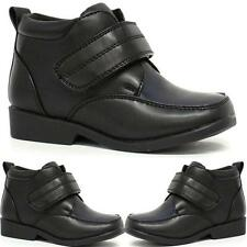 BOYS SCHOOL SHOES INFANTS NEW SMART WEDDING FORMAL ANKLE BOOTS SHOES SIZE