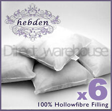 Pack of 6 Oblong Rectangular Cushion Pad Inserts Fillers