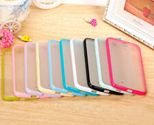 Hard Transparent Back Soft Bumper Case Cover FOR Samsung Galaxy Mega 6.3 i9200