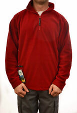 REGATTA THOR MENS OVERHEAD FLEECE IN LAVA RED TRA510 E4