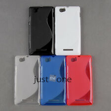 Soft TPU Simple S-line Wave Back Skin Case Cover for Sony Xperia M C1904 C1905
