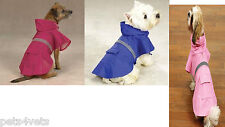 PERSONALIZED or Plain Guardian Gear Brite Dog Rain Jacket Pink Blue Hot Pink Org