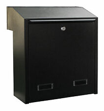 w3-4 Large Rear Retrieval Post Box, Dual Access Letter Boxes, Gate/Fence Mounted