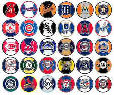 "Baseball Decal Stickers MLB Licensed  About 3"" Round Prismatic Your Choice"