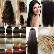 Synthetic One Piece Long Straight/Curly/Wavy Hair Extensions 5 clips in Salon UK
