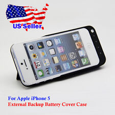 External Backup Battery Charger Charging Cover Case Stand for Apple iPhone 5