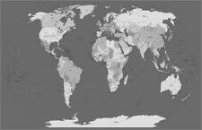 Map of the World Map Art Print Poster - u793