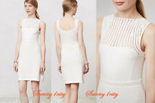 NEW Anthropologie Coquillage Dress By Nanette Lepore, Ivory Sz M, Cotton!