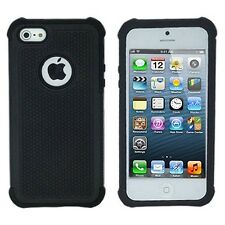 Hard & Soft Rubber Armor High Impact Body Case Cover for Apple iPhone 4 4S 4G