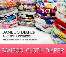 WHOLESALE HIGH QUALITY BABY BAMBOO DIAPER RE-USABLE CLOTH NAPPY+BAMBOO INSERT