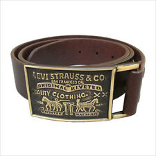 NEW LEVI'S MEN'S PREMIUM GENUINE LEATHER BELT SNAP CLOSURE (1LV02053) BROWN