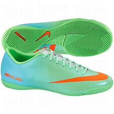 Nike Mercurial Victory IV IC Indoor Soccer SHOES 2013 Lime Green / Blue / Orange