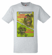 I Drink Your Blood (1970)  I Eat Your Skin (1964) B Movie poster Zombie T shirt