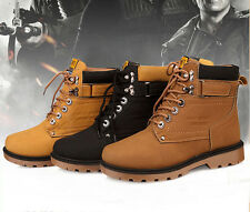 New Men's Fashion Casual Sneakers Lace Up Winter Martin Ankle Boots Flats Shoes