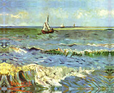 """Seascape At Saintes-Maries Van Gogh""Canvas or Print Wall Art"