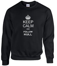 KEEP CALM AND FOLLOW HULL FAN SWEATSHIRT ALL SIZES AVAILABLE