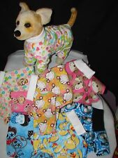 Size Small Flannel 4 legged Dog Pajamas,several prints available,see e-bay store