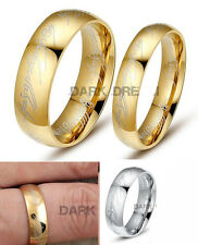 "Lord of the Rings ""The One Ring"" Bilbo's Hobbit Ring titanium steel unisex band"