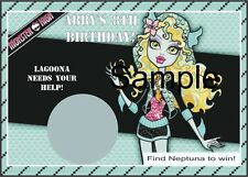 Monster High - Lagoona - Scratch Off Tickets - Birthday Party. 12 Count.