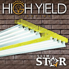 "T5 4 ft 8 LAMP GROW LIGHT 432w 48"" HIGH OUTPUT FLUORESCENT BULB CHOICE VEG BLOOM"