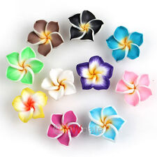 50x Mix Colors Fimo Polymer Clay Plumeria FLOWER BEADS FOR PENDANT&BRACELET 15MM