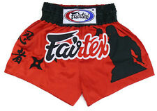 Fairtex Embroided Muay Thai Shorts - Assassin, Black Satin  BS0638 boxing shorts