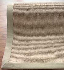New Solid & Striped Modern Contemporary Beige Machine Woven Area Rug Carpet Jute