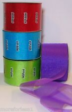 "CHOOSE COLOR Ribbon Sheer Glimmer New Sparkle 90 Feet 30 Yards 2.5"" Wide Roll"