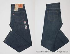 NWT LEVI'S MENS 527 SLIM CUT BOOT CUT BLUE JEANS (SUNSET CLIFF) 32 33 34