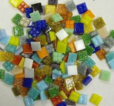 1cm x 1cm vitreous glass tiles for mosaics, art and craft - mixed colours