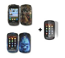 Hard Case Snap-on Phone Cover for LG 800G TracFone + Free Screen Protector