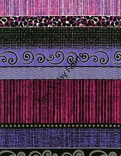 Oasis Stripe Plum/Blue - Urban Oasis- Benartex 3375-66 (sold by the 1/2 yard)
