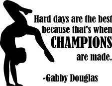 """22x18"""" Large Gabby Douglas Vinyl Wall Decal 