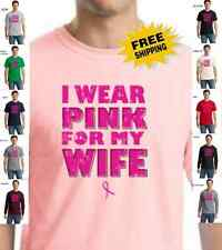Breast Cancer Awareness I Wear Pink For My Wife Fight For Cure T-Shirt