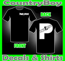 POWERSTROKE P T-Shirt * Front & Back Logo * Diesel Stacks Coal 4X4 Mud TEE SHIRT