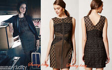 NEW Anthropologie Lace Topography Sheath By Heartloom M, L BLACK Lace Dress $188