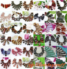 Various Natural Gemstone Japer Pendant Charm Stick Beads Jewelry