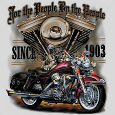 For the People Made by Americans Since 1903 Biker T-Shirts American Motorcycles