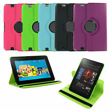 360 Rotating Folio Leather Stand Case Cover for Amazon Kindle Fire HD 8.9 - NEW!