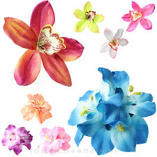 HAIR FLOWER CLIP WEDDING HAIR FLOWERS ORCHID LILY HAIR CLIPS BRIDAL HAIR FLOWERS