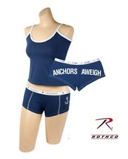 Women's Underwear US NAVY Anchors Aweigh Booty Shorts and Top New