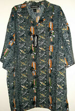 "NWT 4X KAYAKING HAWAIIAN SHIRT by YAGO     CHEST 60""around"