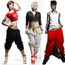 New Womens Mens Hip Hop Harem Baggy Sport Dance Sweatpants Trousers Casual Pants