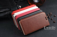Luxury Flip Wallet Real Cow Leather Stand Set Case Cover For HUAWEI ASCEND P6