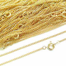 Top Quality 22ct Gold Plated Necklace Curb Chain 16 18 24 Inch