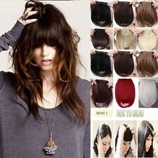 Any colors women lady clip in on fake fringe bangs hair extension piece