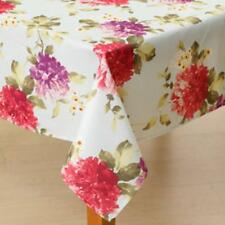 PENELOPE Large Floral Pink Purple Red Yellow Blue Green Flowers Tablecloth NIP