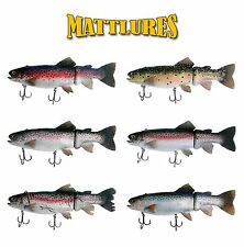 "Mattlures 10"" Dead Twitch Trout Swimbait - Select Color(s)"