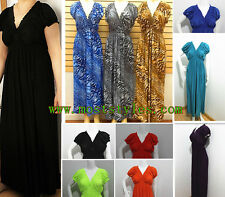 New Women PLUS SIZE Full Length Sundress Short Sleeve Sexy MAXI Sexy Dress/Gown