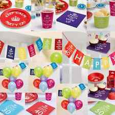 Keep Calm and Party On Birthday Party Paper Tableware Range ****£3.95 UK P&P****